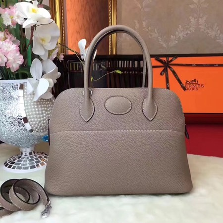 Hermes Bolide Original Togo leather Tote Bag HB31 grey