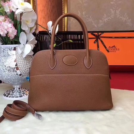 Hermes Bolide Original Togo leather Tote Bag HB31 brown