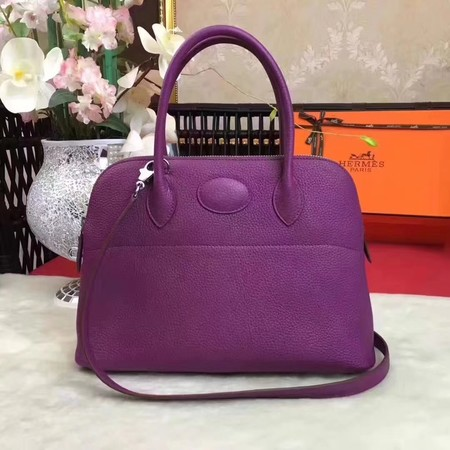 Hermes Bolide Original Togo leather Tote Bag HB31 purple