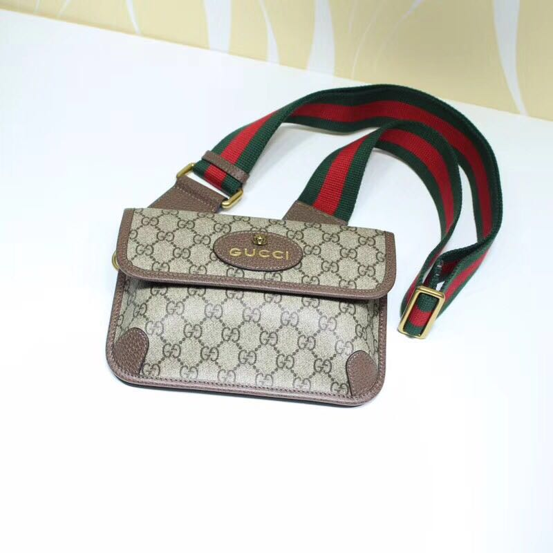 Gucci GG original canvas waisted bag 489617 coffee