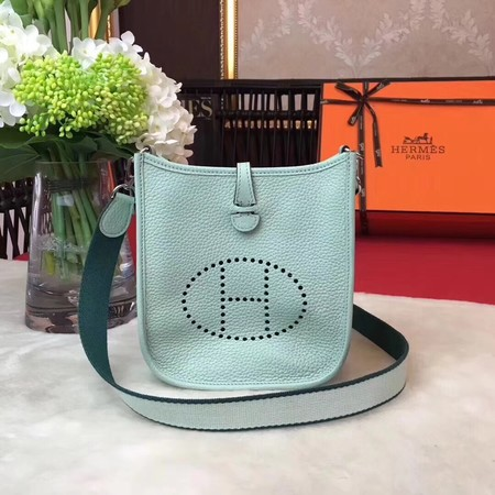 Hermes Evelyne original togo leather mini Shoulder Bag H1187 Light green