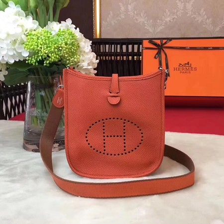 Hermes Evelyne original togo leather mini Shoulder Bag H1187 orange