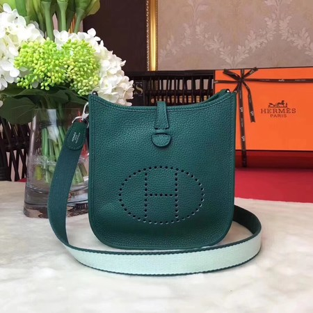 Hermes Evelyne original togo leather mini Shoulder Bag H1187 green