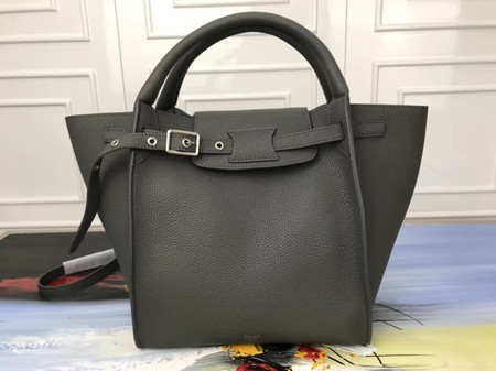 Celine the big bag calf leather Tote Bag 3479 dark grey