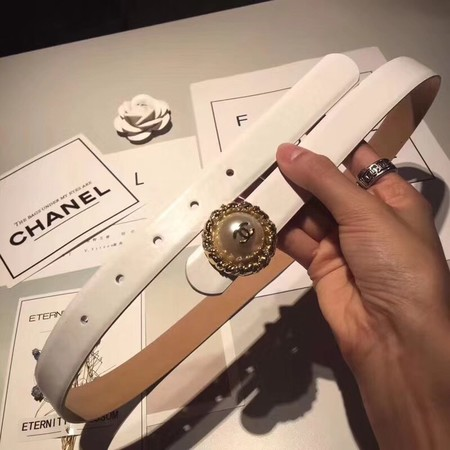 Chanel Original Calf leather Belt Wide 3.0CM 2310 white