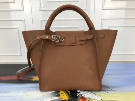 Celine the big bag calf leather Tote Bag 3479 apricot