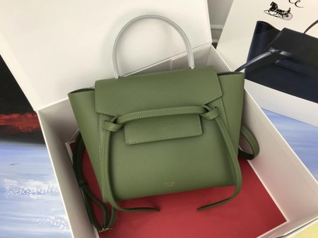 Celine mini Belt Bag Original Calf Leather A98310 green