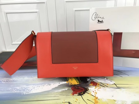 Celine frame Bag Original Calf Leather 5756 Orange .red