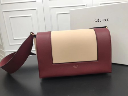 Celine frame Bag Original Calf Leather 5756 red.apricot