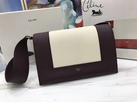Celine frame Bag Original Calf Leather 5756 Wine .white