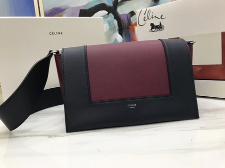 Celine frame Bag Original Calf Leather 5756 Wine.black