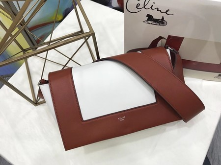 Celine frame Bag Original Calf Leather 5756 Camel.white