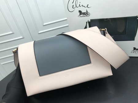 Celine frame Bag Original Calf Leather 5756 white.grey