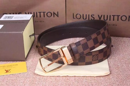 Louis Vuitton Calf leather Belt wide 3.5CM 2272 brown