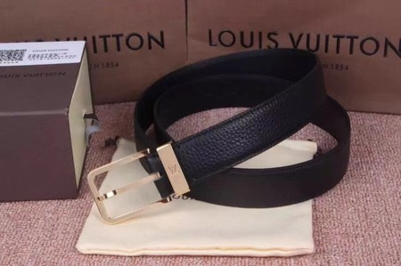 Louis Vuitton Calf leather Belt wide 3.5CM 2274 black