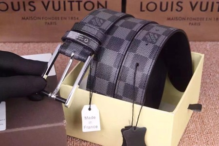 Louis Vuitton Calf leather Belt wide 3.5CM 2275 black