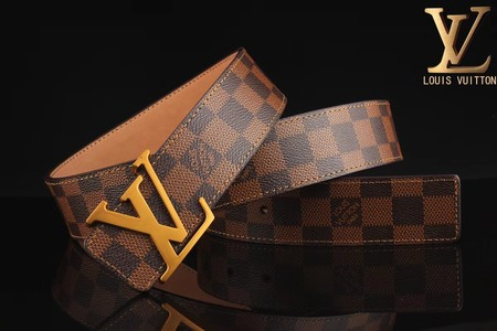 Louis Vuitton Calf leather Belt wide 3.8CM 2269  brown