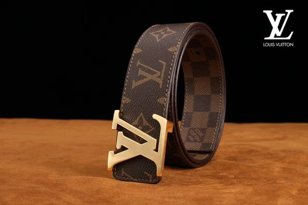 Louis Vuitton Calf leather Belt wide 3.8CM 2257