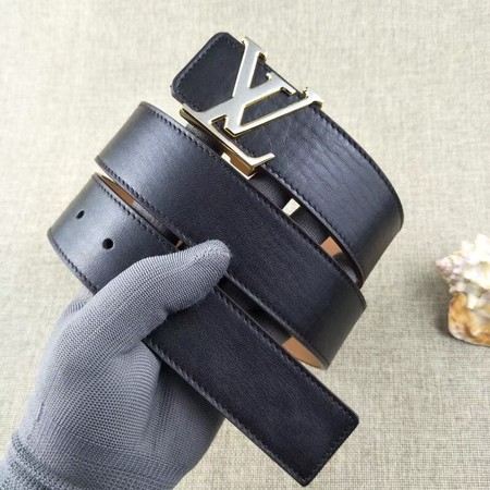 Louis Vuitton Calf leather Belt wide 3.8CM 2276 black