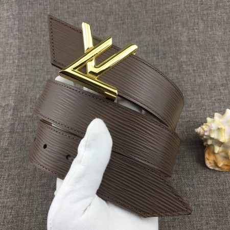 Louis Vuitton Calf leather Belt wide 4.0CM 2279 Chocolates
