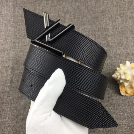 Louis Vuitton Calf leather Belt wide 4.0CM 2279 black