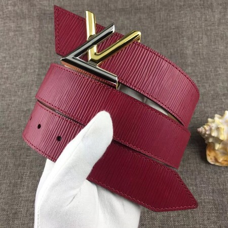 Louis Vuitton Calf leather Belt wide 4.0CM 2283 red