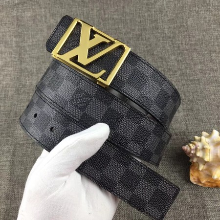 Louis Vuitton Calf leather Belt wide 4.0CM 2284 black