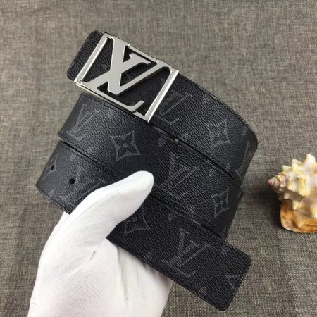 Louis Vuitton Calf leather Belt wide 4.0CM 2285 black