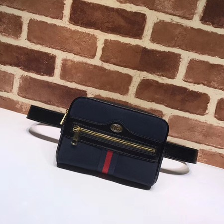 Gucci GG original Nubuck leather waist pack 517076 black