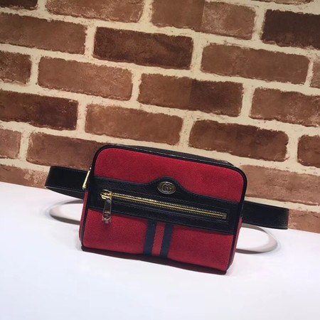 Gucci GG original Nubuck leather waist pack 517076 red