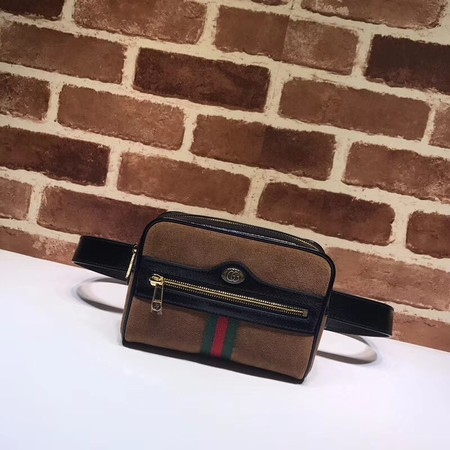Gucci GG original Nubuck leather waist pack 517076 brown