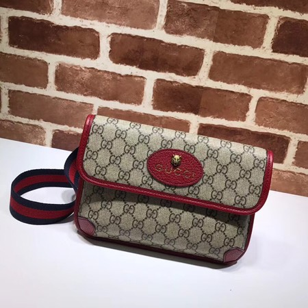 Gucci GG original canvas supreme waist pack 495654 red
