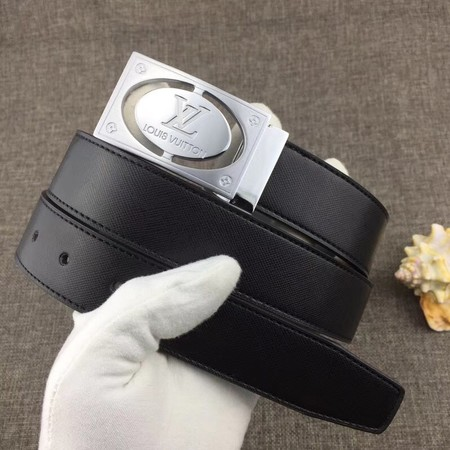 Louis Vuitton Calf leather Belt wide 3.4CM 2280 black