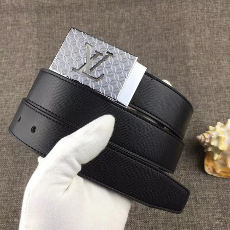 Louis Vuitton Calf leather Belt wide 3.4CM 2281 black