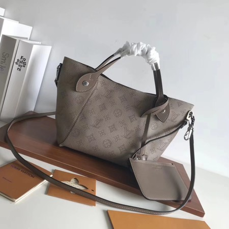 Louis Vuitton original Mahina Leather Tote Bag 54353 grey