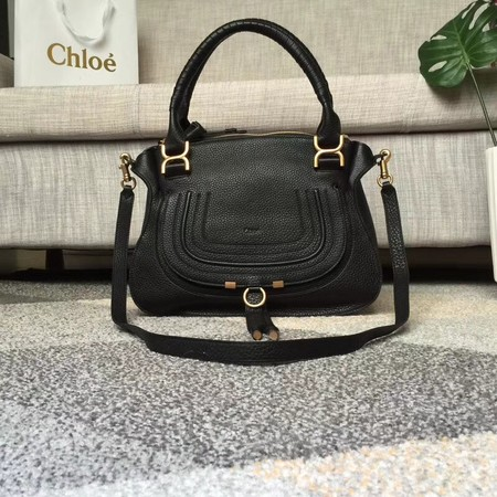 Chloe Marcie original Cowhide Tote Bag 166320 black