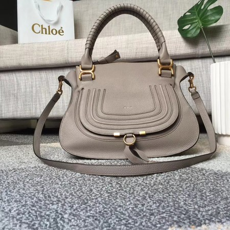 Chloe Marcie original Cowhide Tote Bag 166320 grey