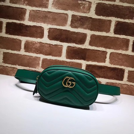 Gucci GG Marmont matelasse leather waist pack 476434 green