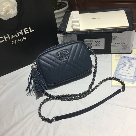 Chanel Flap Original Sheepskin Leather mini Shoulder Bag 5700 blue