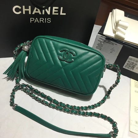 Chanel Flap Original Sheepskin Leather mini Shoulder Bag 5700 green