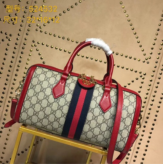 Gucci GG canvas ophidia top quality tote bag 524532 red