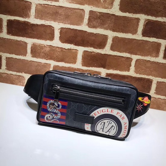 Gucci Night Courrier soft GG Supreme belt bag 474293 black