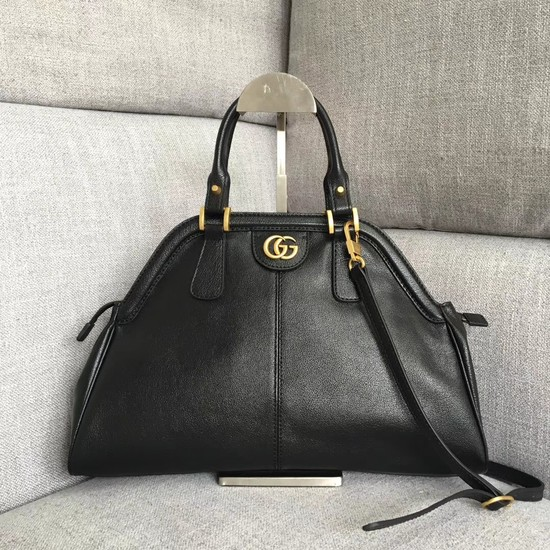 Gucci RE medium top handle bag Style 516459 black