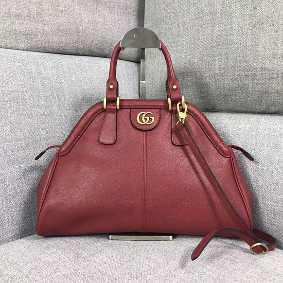 Gucci RE medium top handle bag Style 516459 red