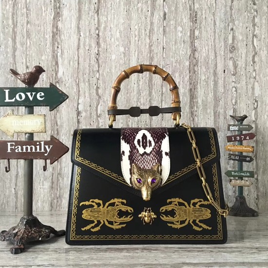 Gucci GG NOW medium top handle bag 466434 black