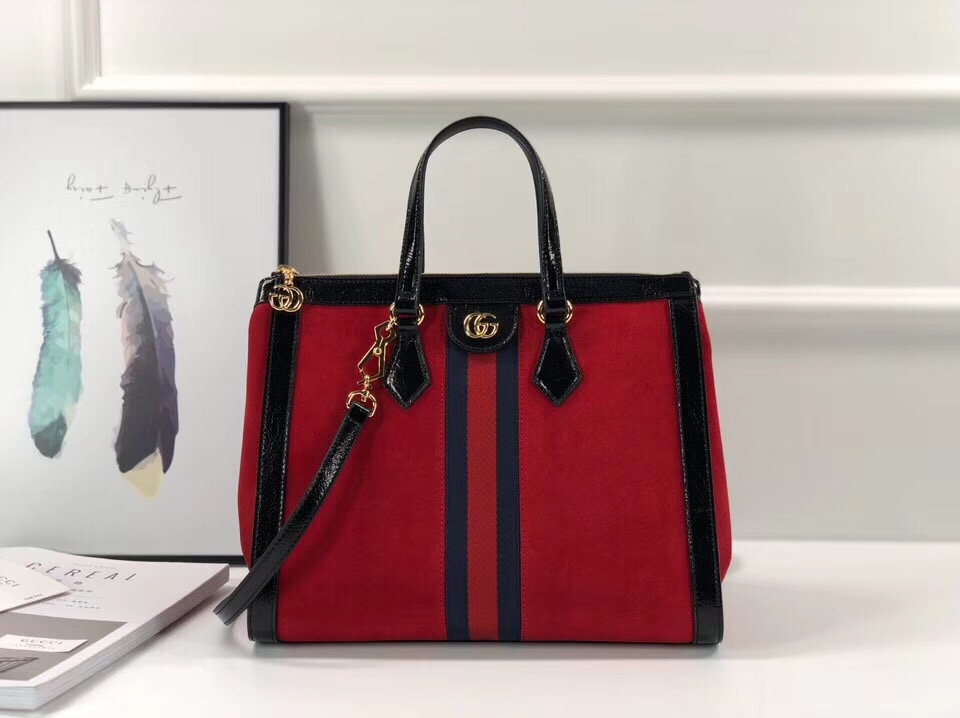 Gucci Ophidia medium top handle bag 524537 red