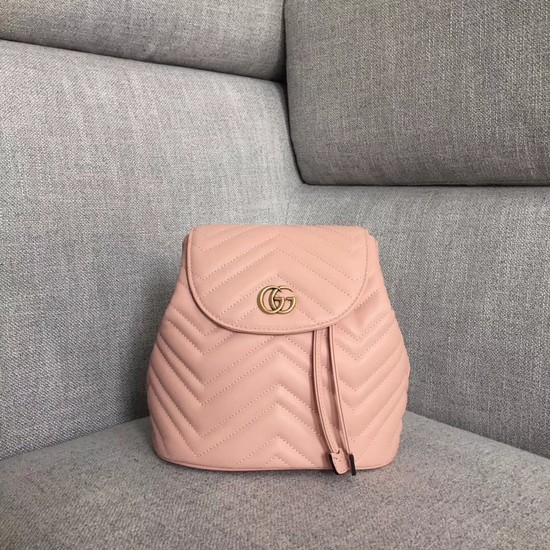 Gucci GG Marmont matelasse backpack 528129 Pink