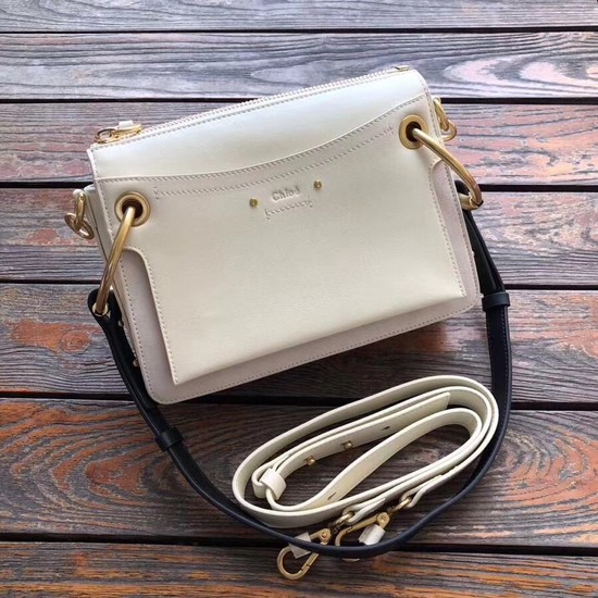 CHLOE Roy leather and suede small shoulder bag 20657 cream