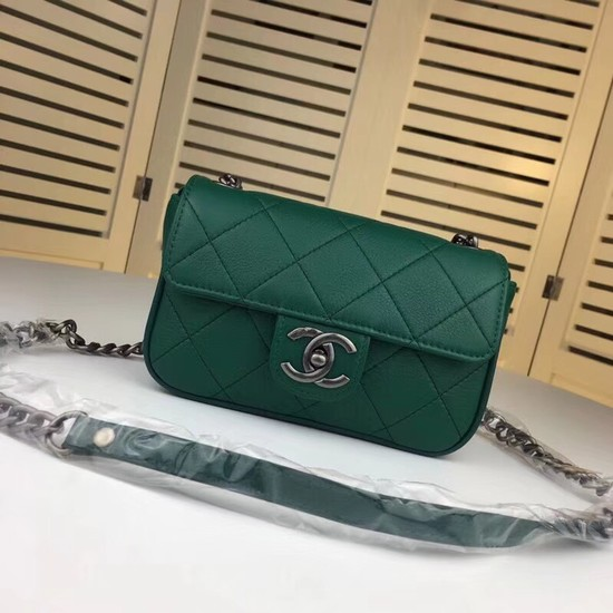 Chanel mini Leather cross-body bag 7739 green