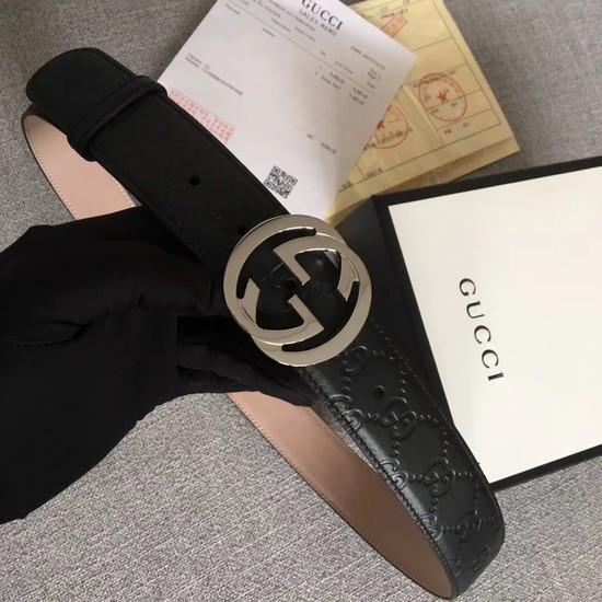 Gucci Signature leather belt 370543 black 27c7903042